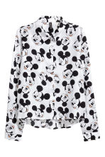 Patterned shirt - White/Mickey Mouse - Ladies | H&M CN 2