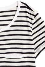 Striped jersey top - White/Black - Ladies | H&M CN 3