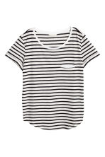 Striped jersey top - White/Black - Ladies | H&M CN 2