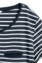 Top in jersey a righe - Blu scuro/bianco -  | H&M IT 3