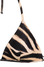 Padded triangle bikini top - Tiger print - Ladies | H&M 3