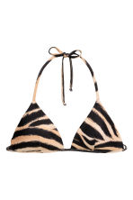 Padded triangle bikini top - Tiger print - Ladies | H&M 2