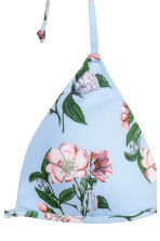 Padded triangle bikini top - Light blue/Floral - Ladies | H&M CN 3