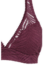 Lace bikini top - Plum - Ladies | H&M 4
