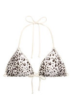 Reversible triangle bikini top - Green/Leaf - Ladies | H&M 3
