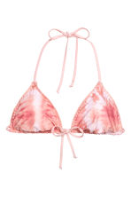 Reversible triangle bikini top - Pink/Batik - Ladies | H&M 2