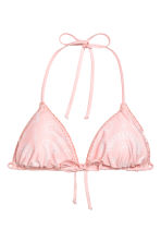 Reversible triangle bikini top - Pink/Batik - Ladies | H&M 3