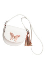 Small shoulder bag - White/Butterfly - Kids | H&M 2