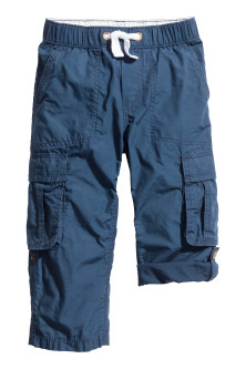 Roll-up cargo trousers