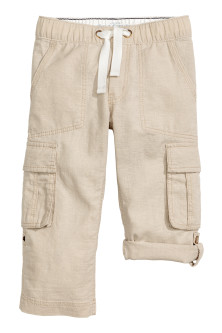 Pantalon cargo retroussable