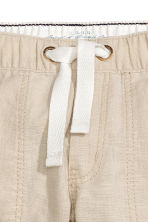 Roll-up utilitybroek - Lichtbeige -  | H&M NL 4