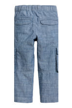 Pantalon cargo retroussable - Bleu denim - ENFANT | H&M CH 4