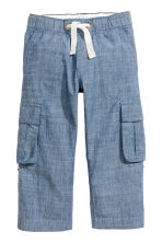 Pantalón cargo Roll-up - Azul denim -  | H&M ES 3
