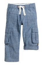 Roll-up cargo trousers - Denim blue - Kids | H&M 2
