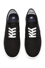 Cotton canvas trainers - Black - Men | H&M CN 2
