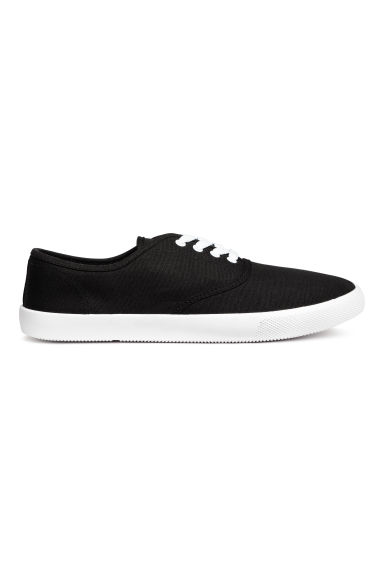 Cotton canvas trainers - Black - Men | H&M CN 1
