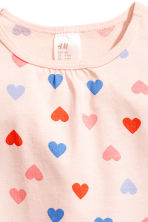 平紋睡衣套裝 - Powder pink/Hearts -  | H&M 3