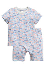 Jersey pyjamas - Grey/Cars -  | H&M 1