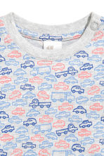 Jersey pyjamas - Grey/Cars - Kids | H&M 3