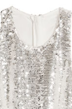 Sequined dress - White - Ladies | H&M 4