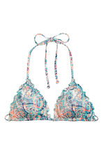 Triangle bikini top - Turquoise/Paisley - Ladies | H&M 2