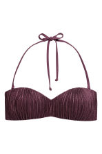 Bandeau bikini top - Plum - Ladies | H&M CN 1