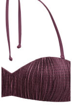 Bandeau bikini top - Plum - Ladies | H&M CN 3