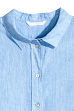 Linen shirt - Blue - Ladies | H&M CN 3
