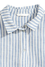 Linen shirt - Blue/Striped - Ladies | H&M CN 3
