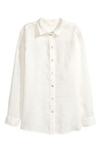 Linen shirt - White - Ladies | H&M 2