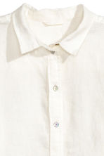Linen shirt - White - Ladies | H&M 3