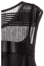 Sleeveless mesh dress - Black - Ladies | H&M 2