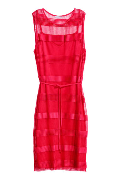 Sleeveless mesh dress - Red - Ladies | H&M CN 1