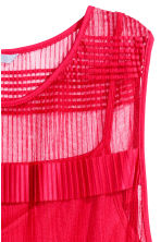 Sleeveless mesh dress - Red - Ladies | H&M CN 2