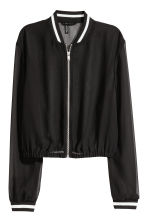 Chiffon bomber jacket - Black - Ladies | H&M 2
