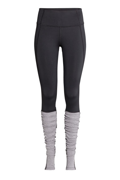 Leggings da yoga - Nero/grigio mélange - DONNA | H&M IT 1