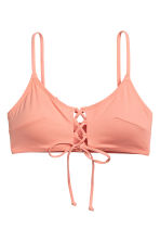 Bikini top with lacing - Apricot - Ladies | H&M CN 2
