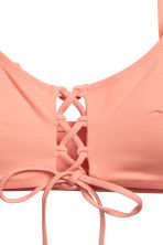 Bikini top with lacing - Apricot - Ladies | H&M CN 3
