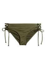 Bikini bottoms with lacing - Khaki green - Ladies | H&M 2
