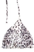 Triangle bikini top - White/Leopard print - Ladies | H&M 3