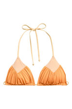 Triangle bikini top - Light orange - Ladies | H&M CN 2