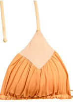 Triangle bikini top - Light orange - Ladies | H&M CN 3