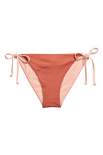Tie tanga bikini bottoms - Rust - Ladies | H&M 2