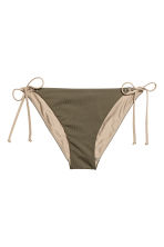 Tie tanga bikini bottoms - Khaki green - Ladies | H&M 2