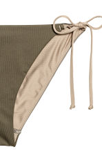 Tie tanga bikini bottoms - Khaki green - Ladies | H&M 3