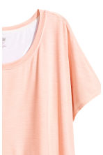 Layered yoga top - Powder pink/White - Ladies | H&M CN 2