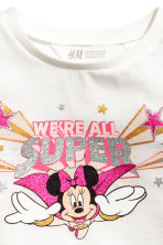 Printed jersey top - White/Minnie Mouse - Kids | H&M CN 3