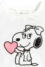 Printed jersey top - White/Snoopy - Kids | H&M CA 3