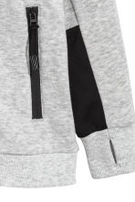 Hooded jacket - Grey marl - Kids | H&M 4