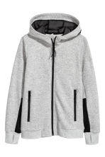 Hooded jacket - Grey marl - Kids | H&M CA 2